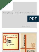 Design gráfico suíço e alemão. Estilo Internacional. Concretismo.