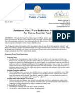 Permanent Water Restrictions