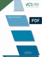 Program Fee Schedule - V3.0