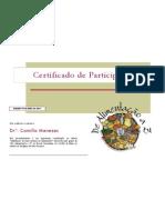 certificado dr camilla