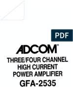 Adcom GFA 2535 Manual