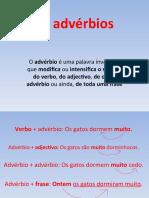 A Classe Dos Adverbios
