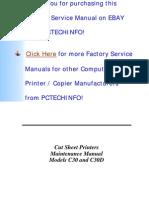 CUT SHEET C30, C30D Parts and Service Manual