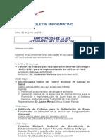 Boletín Informativo ACP - Mayo 2011