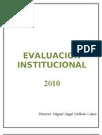 Evaluacion institucional 2010 blanco