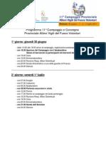 Programma Campeggio Prov.le Allievi Anno 2011 - Unione VVF Mezzolombardo