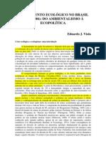 o Movimento Ecolgico No Brasil