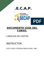 Documento guía del curso plan de costos 2011