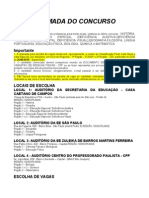 Chamada Do Concurso PEB II - Junho 2011