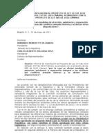 Informe de conciliación de la Ley de Víctimas