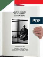 20 AÑOS DESPUÉS DE SU MUERTE ARRUPE VIVE