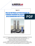 Plus de 100 Pilotes & Professionnels de l'aviation remettent en cause le rapport de la Commission sur le 11 Septembre