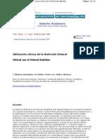 Utilización clínica de la Nutrición Enteral