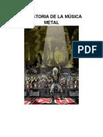 LA HISTORIA DE LA MÚSICA METAL