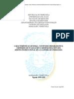 Medicina - LUZ. Fisiologia Programa de la Cátedra de Fisiología vigente 1999-2005