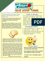 The Sundae Scoop Week 2 Take Home Paper