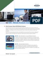 Q2 ION Máy quang phổ phát xạ phân tích thành phần kim loại