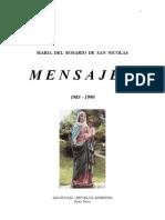 Mensajes de Maria del Rosario de San Nicolas. Tomo Único