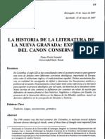 LA HISTORIA DE LA LITERATURA EN LA NUEVA GRANADA EXPRESIÓN DEL CANON CONSERVADOR