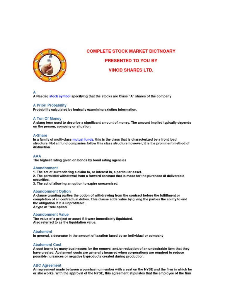 Stock market dictnoary by vsl rexonavn com arbitrage american stock market dictnoary by vsl rexonavn com arbitrage american depositary receipt biocorpaavc