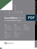 IBJSC.com - Boston Acoustics SoundWare XS 2.1 Speaker System