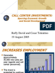 Call Center Investments Spurring Economic Growth and Social Development