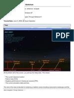 Basic Navigation Through Stellarium