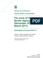The work of the UK Border Agency (November 2010-March 2011) - Home Affairs Committee