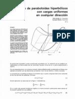 1981-1 Pandeo de Paraboloides Con Cargas Uniformes en Cualquier Direcci_n