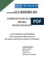 Pragya_complete Study of Agency Module of Reliance Life Insu