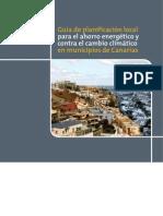 Guía de Planificación Local para el Ahorro Energético y contra el cambio climático en municipios de Canarias