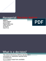 Chapter 9 - Managerial Decision Making and Case