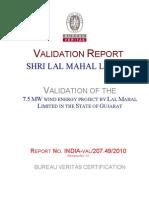Val Report_Lal Mahal