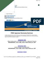 Coester Appraisal Group Free Appraiser Bootcamp Seminars