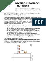 Investigating Fibonacci Numbers