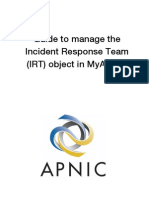 Guide to Manage the Incident Response Team Object in MyAPNIC