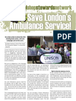 Save London's Ambulance Service! NSSN Campaign Leaflet