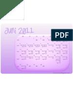Calendar Quran lesen Juni 2011