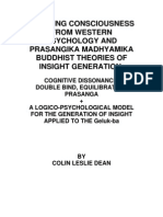 Altering consciousness from western psychology and prasangika madhyamika buddhist theories of insight generation