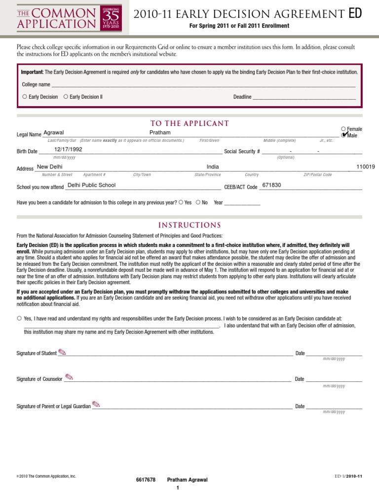 Ed Agreement 10 11 Pratham University And College Admission