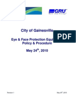 City Eye and Face Protection Policy - Revision 1 - Effective May 24th, 2010