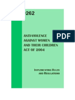 Philippines - Anti Violence Against Women and Children Act and Implementing Rules