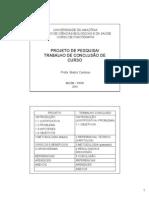 AULA 8 - PROJETO DE PESQUISA - TRABALHO DE CONCLUSÃO DE CURSO