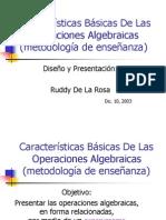 a de Las Operaciones Algebraic As