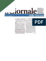 Il Giornale Della Toscana - 28 05 2011 - Cantine Aperte 2011 Villa Petriolo