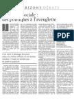 LE MONDE - 2 JUILLET 2004 HORIZONS DÉBATS Cohésion sociale