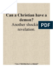 Can a Christian Have a Demon