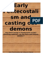 Early Pentecostalism and Casting Out Demons