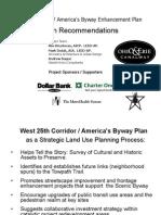 W25 Corridor-America's Byway Enhancement Plan