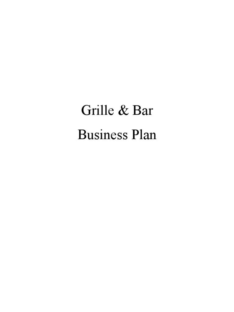 grille  u0026 bar business plan